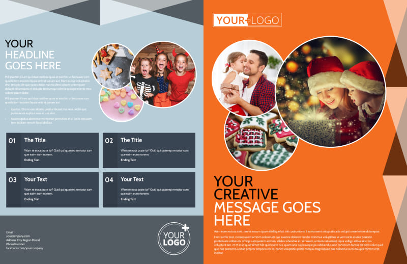 Fun Holiday Party Service Brochure Template Preview 2