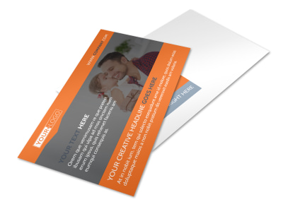 Fun Holiday Party Service Postcard Template 2 preview