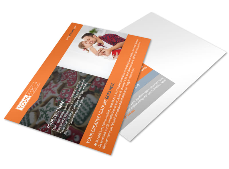 Fun Holiday Party Service Postcard Template Preview 4