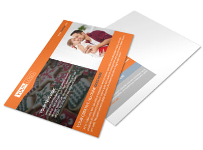 Fun Holiday Party Service Postcard Template preview