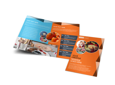 Fun Holiday Party Service Bi-Fold Brochure Template preview