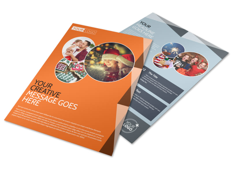 Fun Holiday Party Service Flyer Template Preview 4