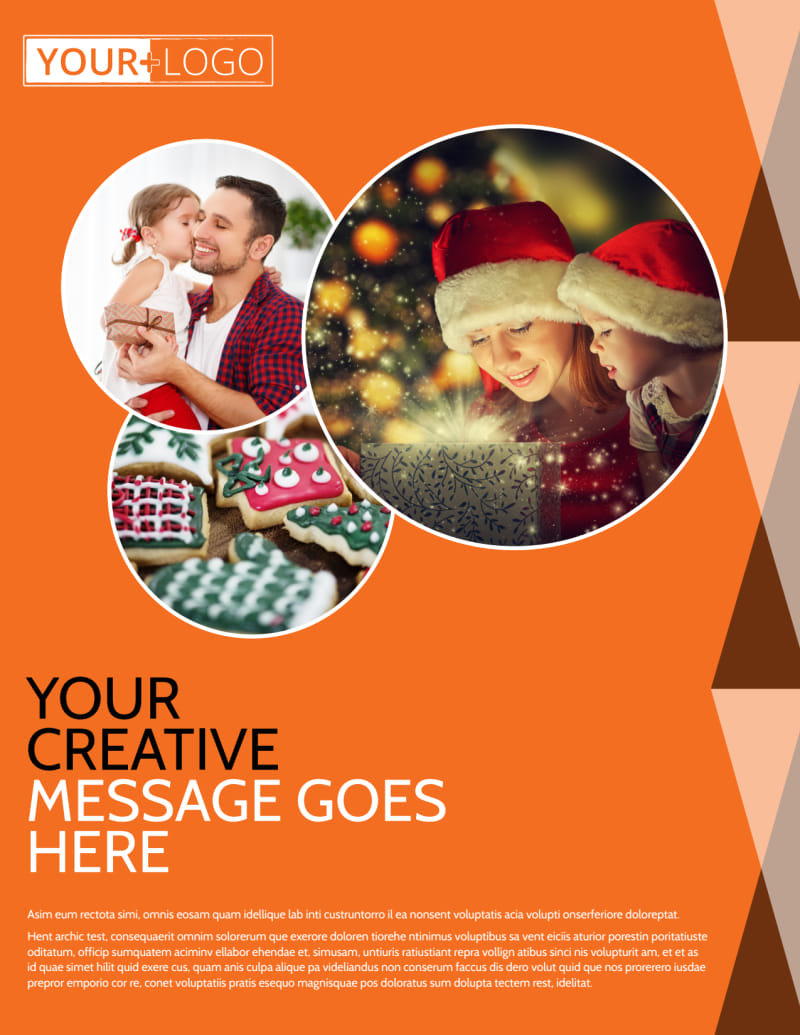 Fun Holiday Party Service Flyer Template Preview 2