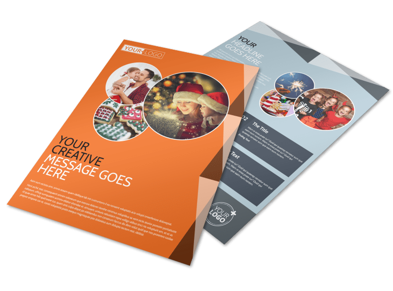 Fun Holiday Party Service Flyer Template Preview 1