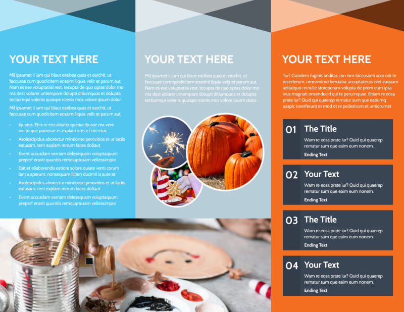 Fun Holiday Party Service Brochure Template Preview 3