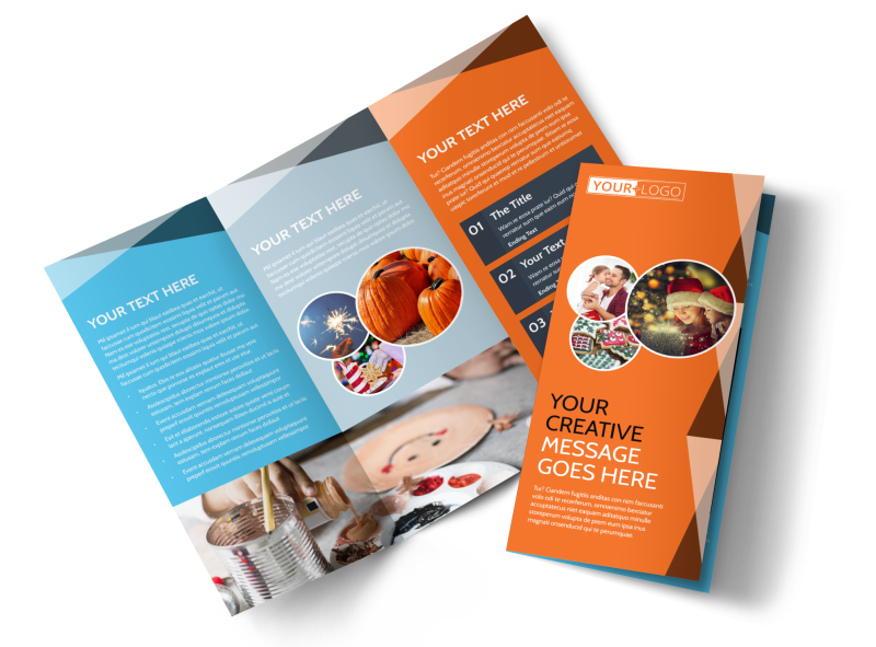 Fun Holiday Party Service Brochure Template Preview 1