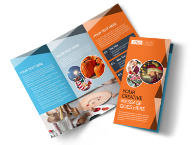 Fun Holiday Party Service Tri-Fold Brochure Template preview