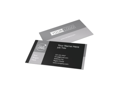 Generic Business Card Template 11131