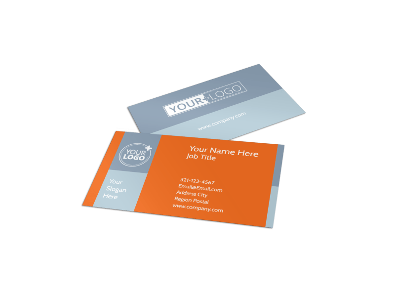 Fun Holiday Party Service Business Card Template Preview 1