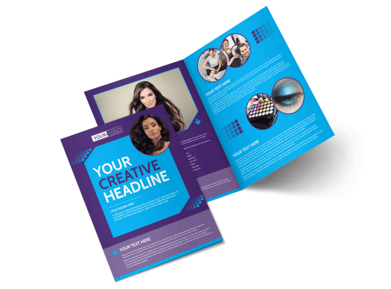 Beauty & Hair Salon Studio Bi-Fold Brochure Template 2