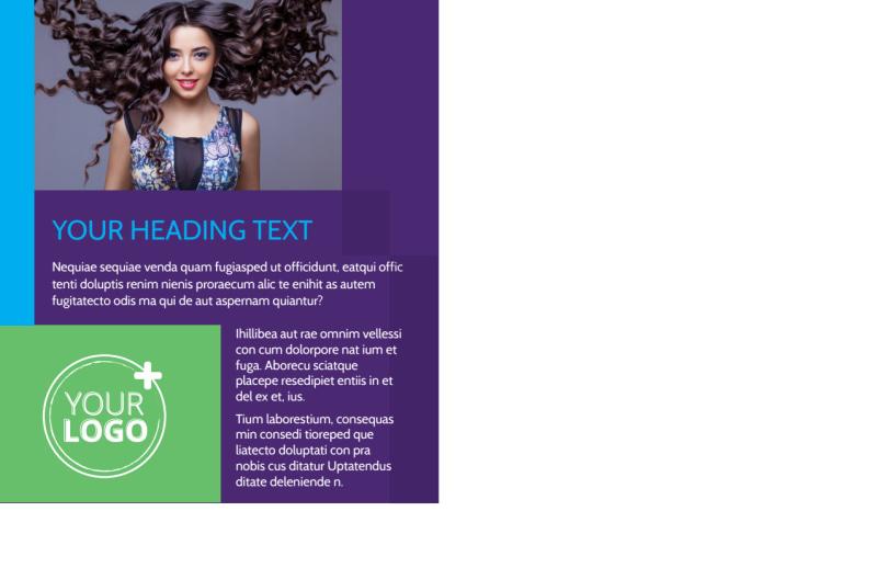 Beauty & Hair Salon Studio Postcard Template Preview 3