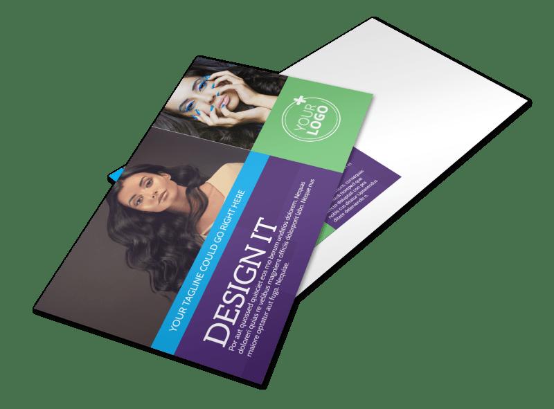 Beauty & Hair Salon Studio Postcard Template Preview 1