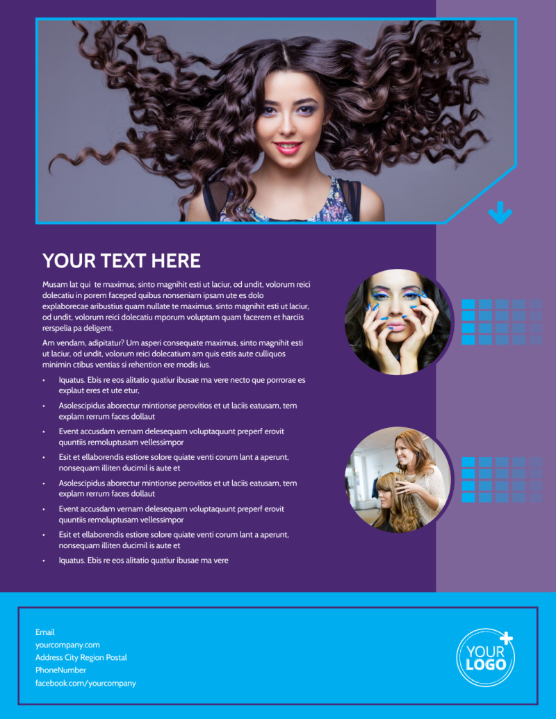 Beauty & Hair Salon Studio Flyer Template Preview 3