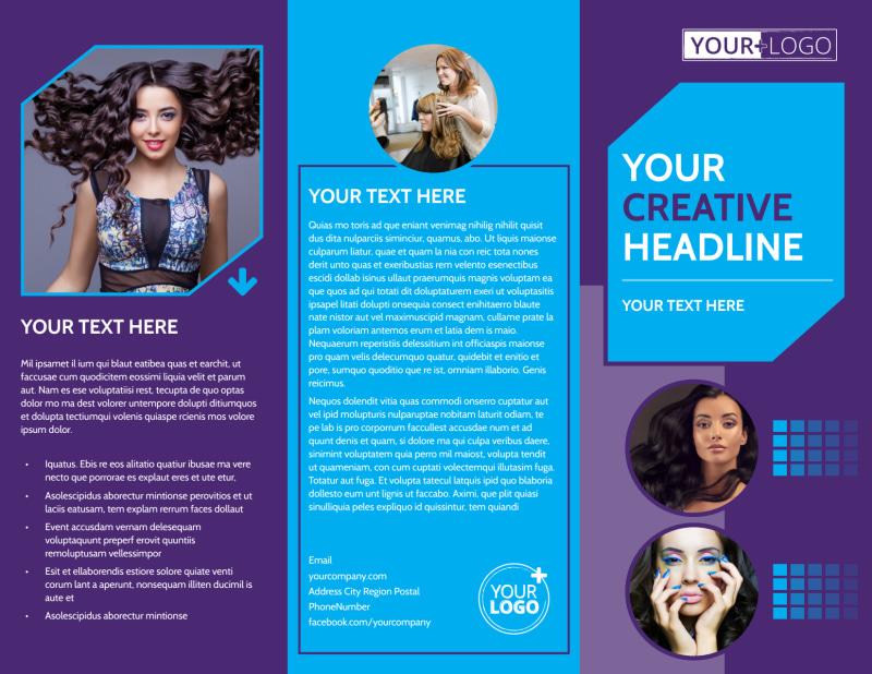 Beauty & Hair Salon Studio Brochure Template Preview 2