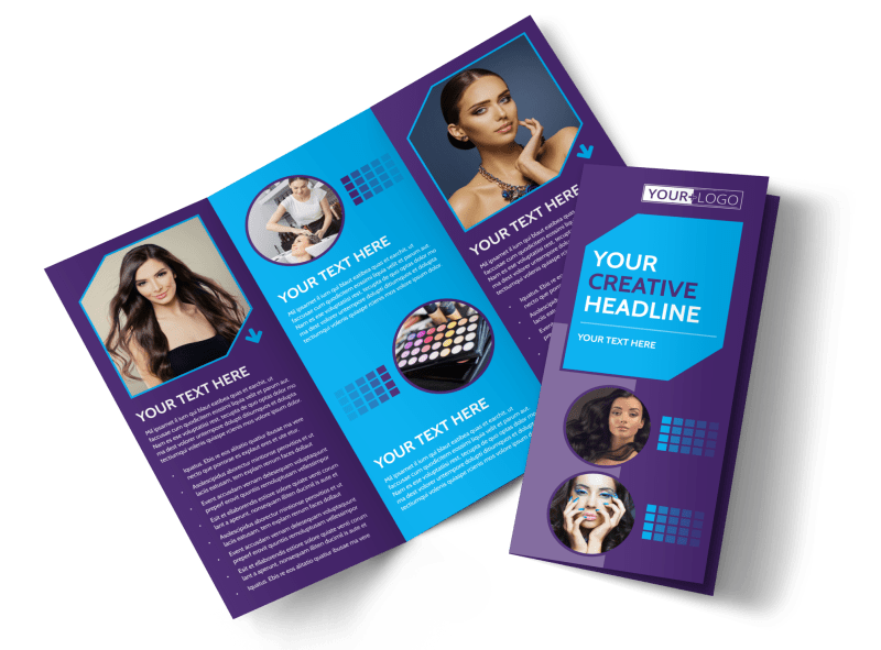 Beauty & Hair Salon Studio Brochure Template Preview 1