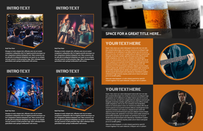 Always Live Music Concert Brochure Template Preview 3