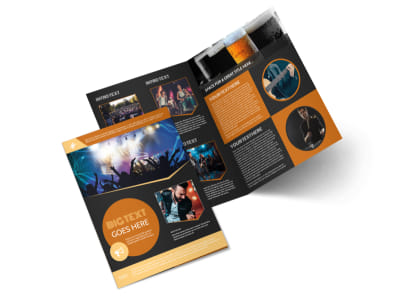 Always Live Music Concert Bi-Fold Brochure Template 2