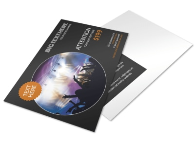 Always Live Music Concert Postcard Template 2 preview