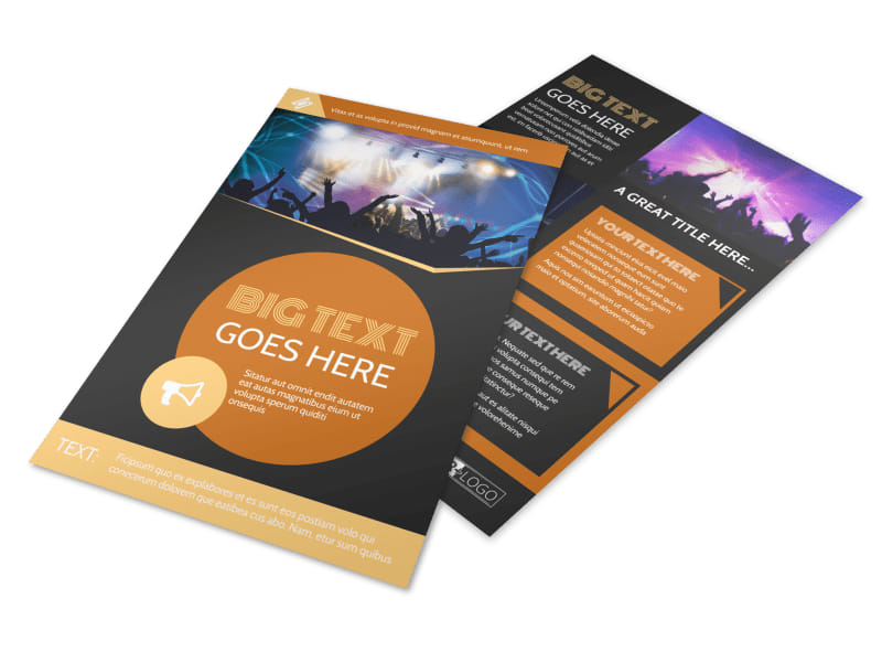 Always Live Music Concert Flyer Template 3