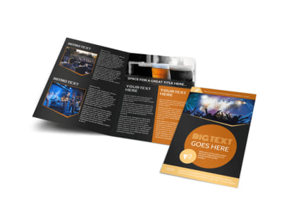 Always Live Music Concert Bi-Fold Brochure Template preview