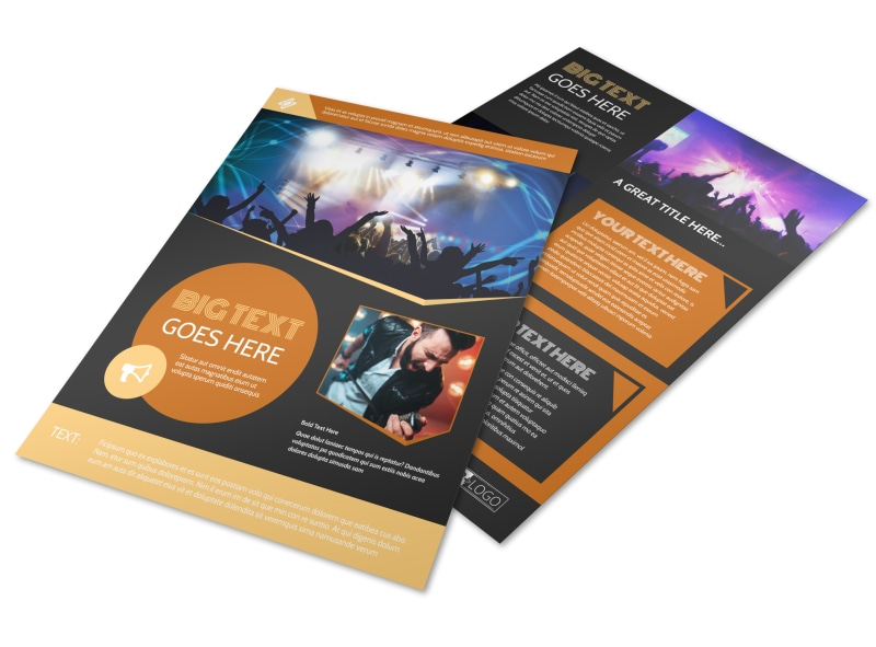 Always Live Music Concert Flyer Template