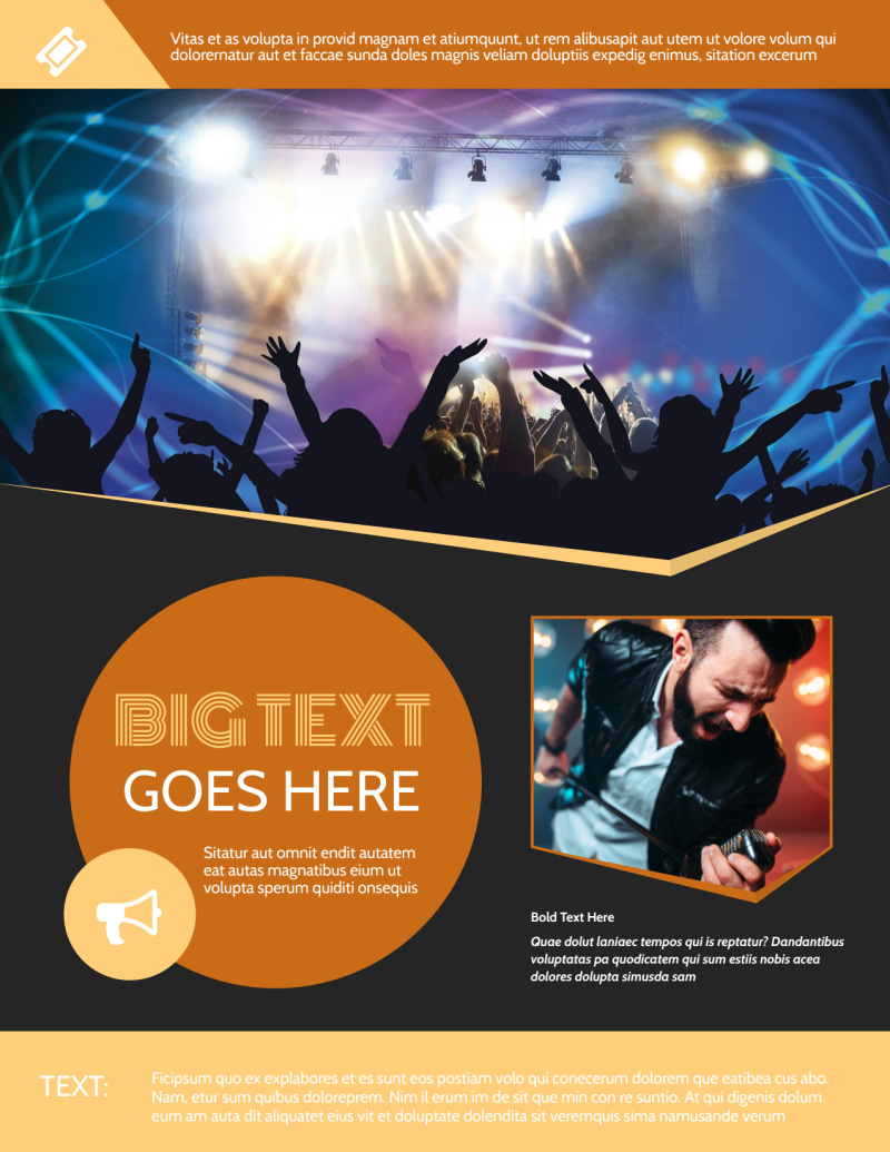 Always Live Music Concert Flyer Template Preview 2
