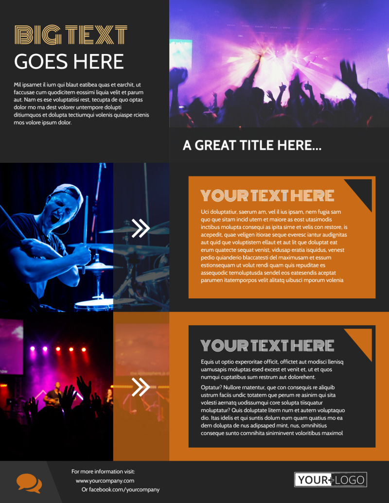 Always Live Music Concert Flyer Template Preview 3