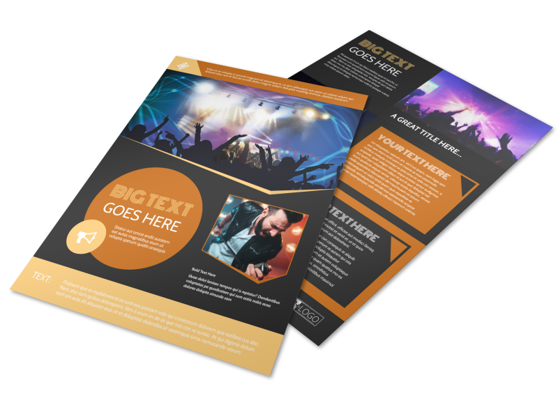 Always Live Music Concert Flyer Template Preview 1