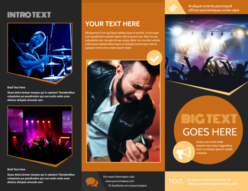 Always Live Music Concert Brochure Template Preview 2