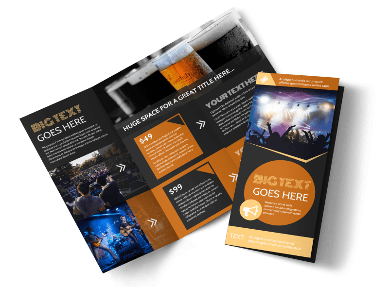 Always Live Music Concert Brochure Template Preview 1