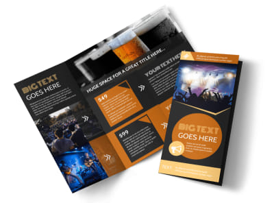 Always Live Music Concert Tri-Fold Brochure Template preview