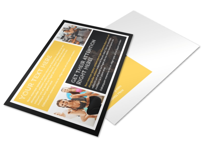 Your Personal Fitness Postcard Template Preview 4