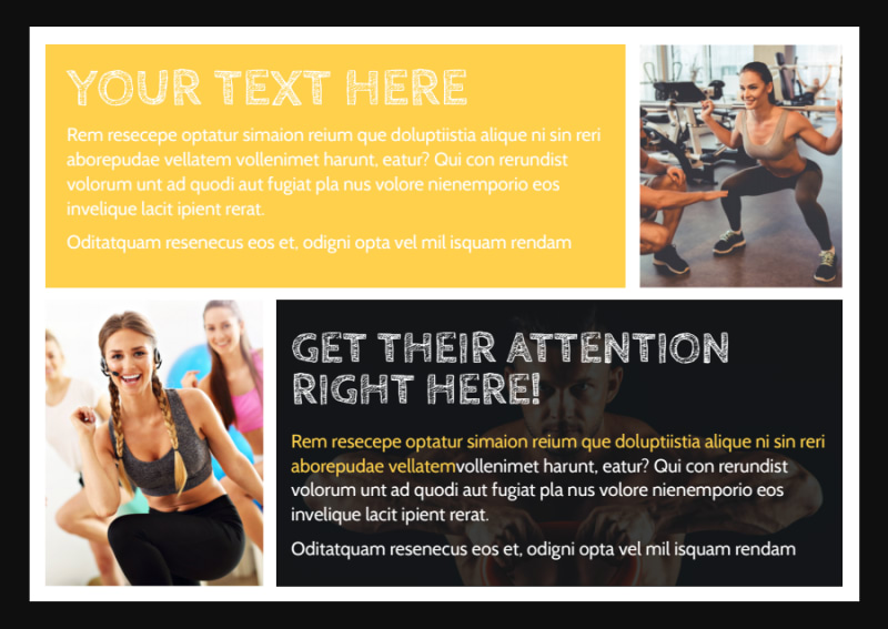 Your Personal Fitness Postcard Template Preview 2