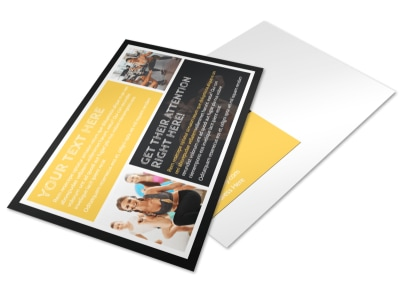 Your Personal Fitness Postcard Template 2 preview