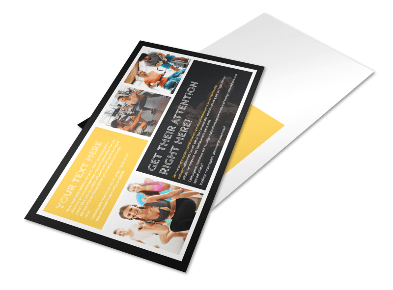 Your Personal Fitness Postcard Template Preview 1