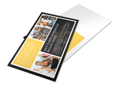 Your Personal Fitness Postcard Template preview