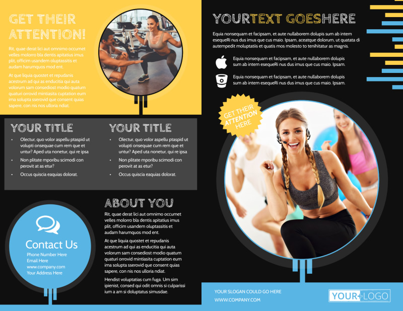 Your Personal Fitness Brochure Template Preview 2