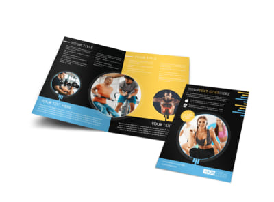 Your Personal Fitness Bi-Fold Brochure Template preview