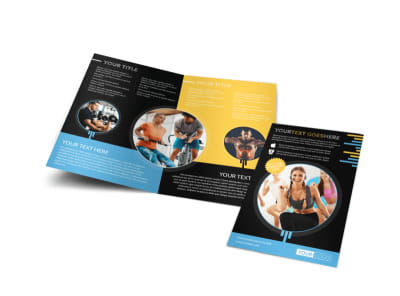 Your Personal Fitness Bi-Fold Brochure Template