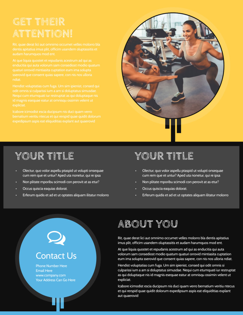 Your Personal Fitness Flyer Template Preview 3