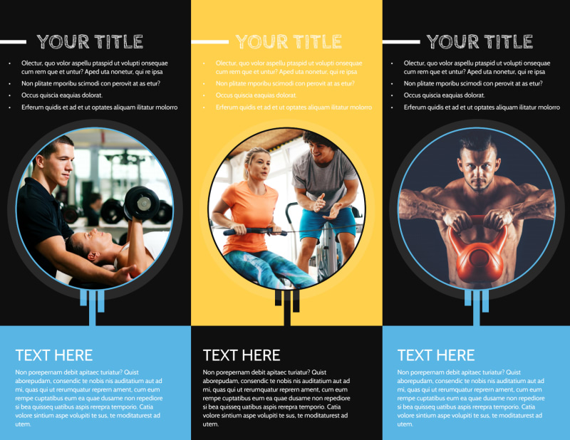 Your Personal Fitness Brochure Template Preview 3