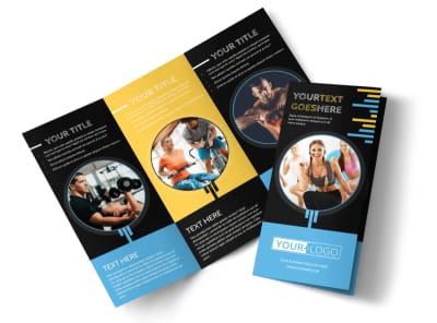 Your Personal Fitness Tri-Fold Brochure Template preview