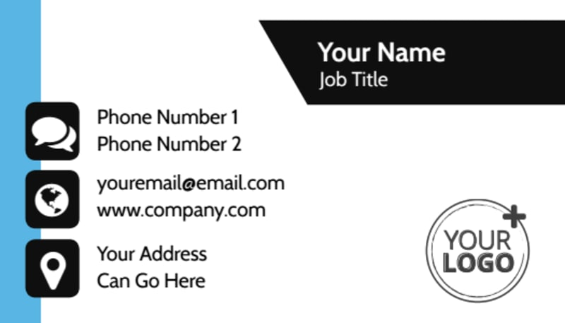Your Personal Fitness Business Card Template Preview 2