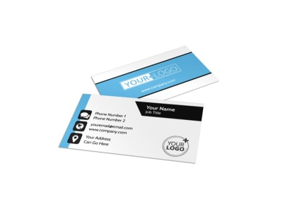 Your Personal Fitness Business Card Template preview