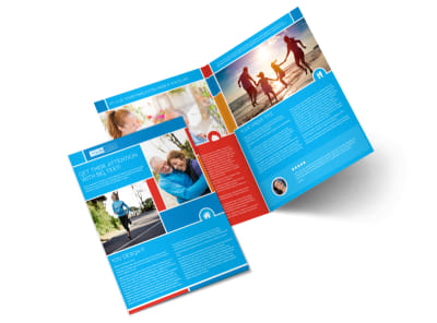 Reliable Health Insurance Bi-Fold Brochure Template 2