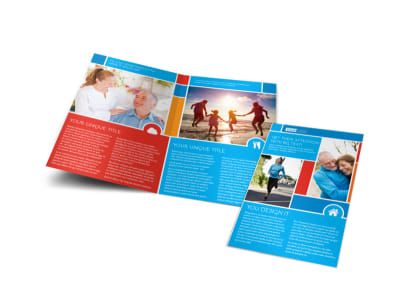 Reliable Health Insurance Bi-Fold Brochure Template