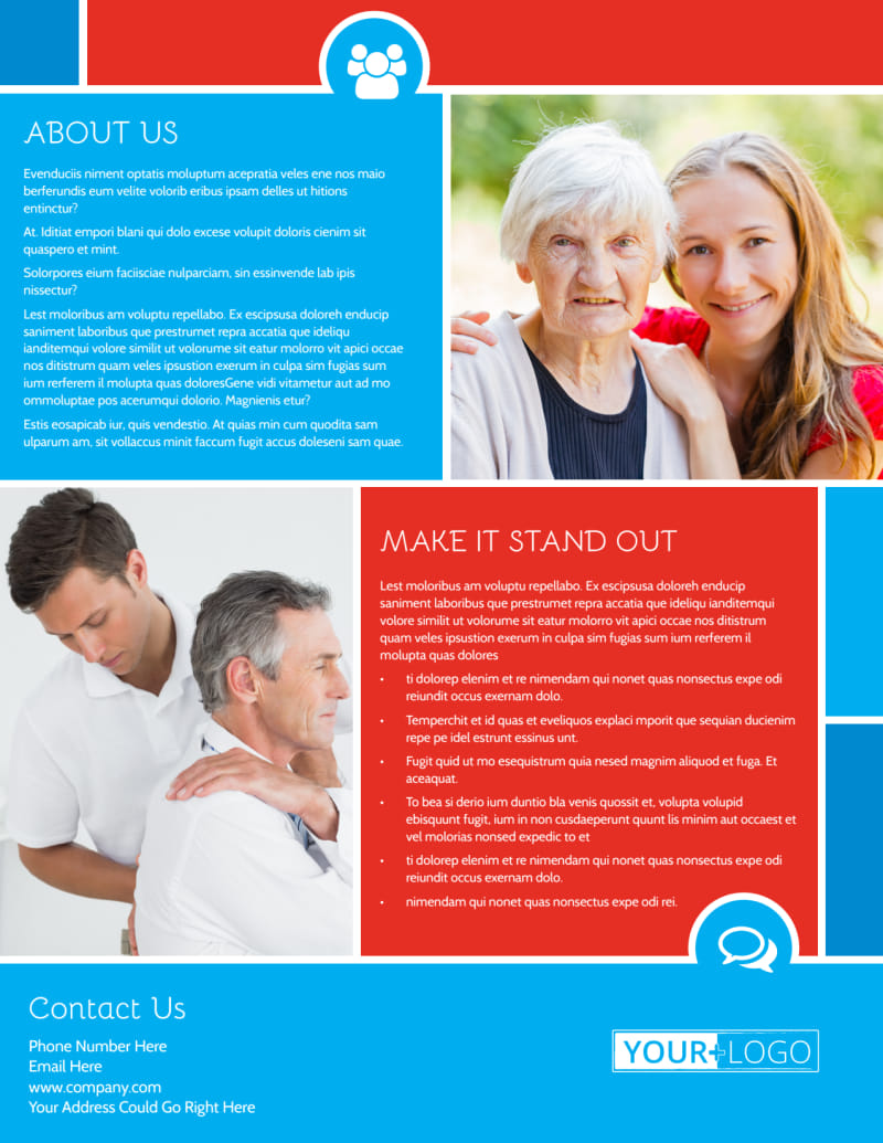 Reliable Health Insurance Flyer Template Preview 3