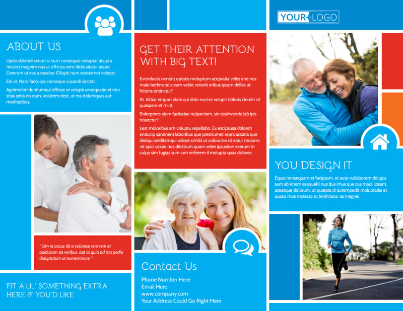 Reliable Health Insurance Brochure Template Preview 2