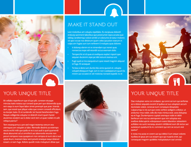 Reliable Health Insurance Brochure Template Preview 3