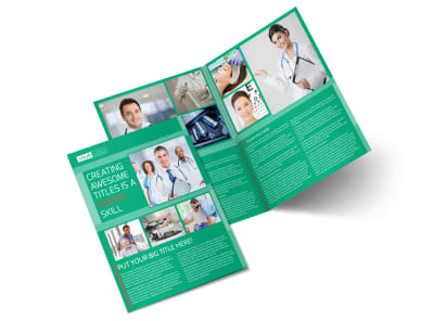 Medical Service Center Bi-Fold Brochure Template 2